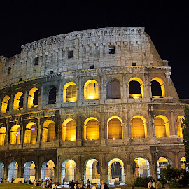 Colosseum by Dmitriy Andreyev - Buildings & Architecture Public & Historical ( colosseum, rome, night, italy, historic )
