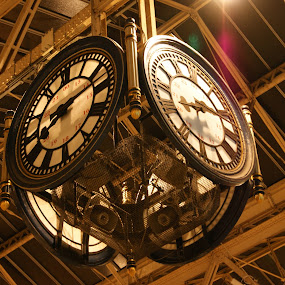 by Maya Farebrother - Travel Locations Railway ( clock )