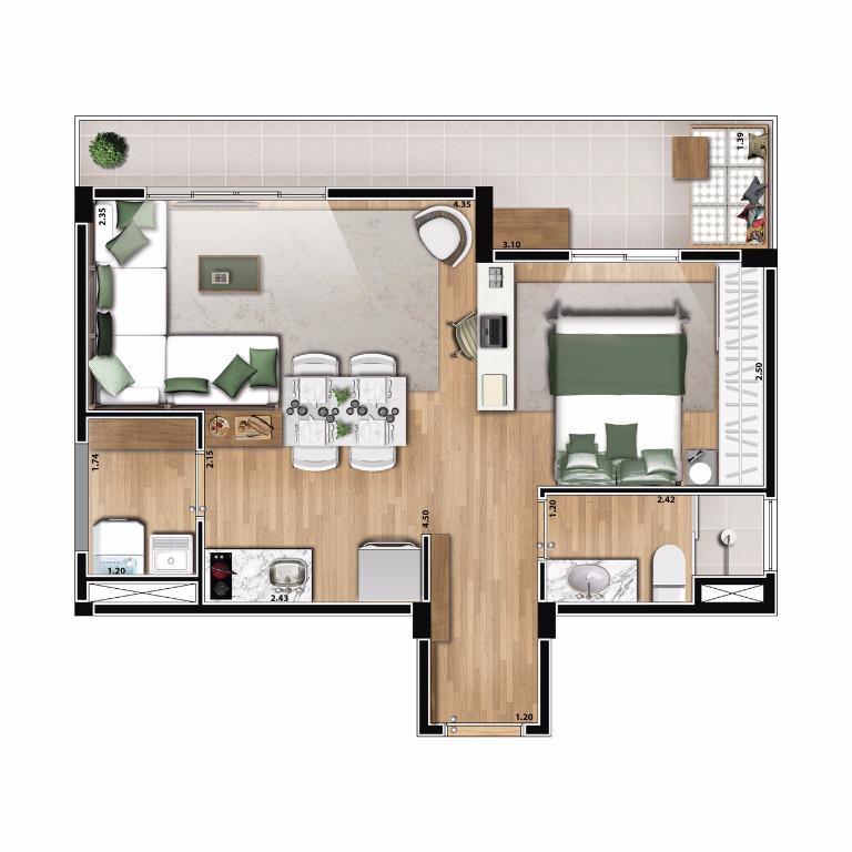 Apartamento de 1 dormitório em Aclimação, São Paulo - SP