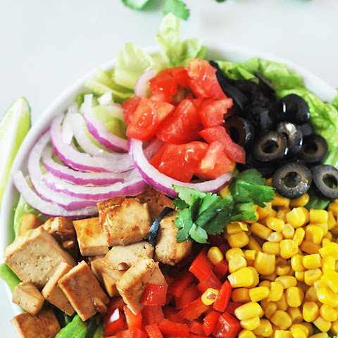 Garlic Tofu Salad with Lime Dressing