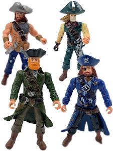 """Набор фигурок """"Пираты Рыжая борода, Роджер, Скелет и Уильям"""""""