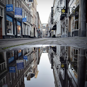 sunday morning by Herry Wibisono - City,  Street & Park  Street Scenes ( mirror, reflection, street, dutch, city )