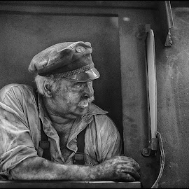 Railway 2962 by Jani Novak - People Portraits of Men ( railway old museum people man )