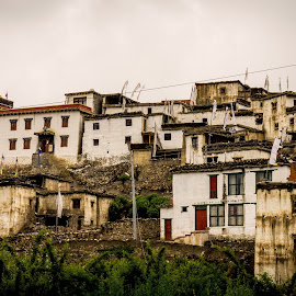 Old village Jharkot in Lower Mustang by Ngọc Nguyễn - Buildings & Architecture Homes ( horseback, mustang, coutryside, village, nepal )