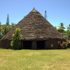 Chief's Hut in Lifou by Cheryl Muir - Buildings & Architecture Public & Historical ( hut, lifou, travel, new caledonia, chief's hut )
