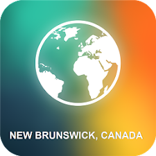 New Brunswick, Canada Map