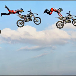The Superman by Craig McNiven - Transportation Motorcycles ( super, bike, motorcycle, stunt, man, jump,  )