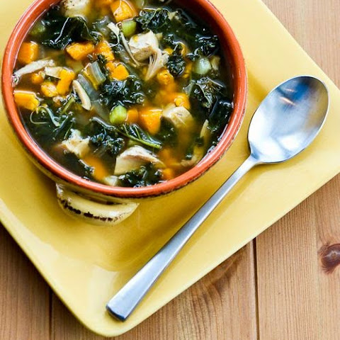 Slow Cooker Turkey (or Chicken) Soup with Kale and Sweet Potatoes