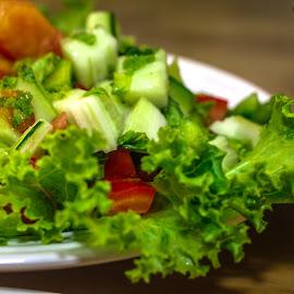 My Salad Dish by Syahrul Nizam Abdullah - Food & Drink Fruits & Vegetables