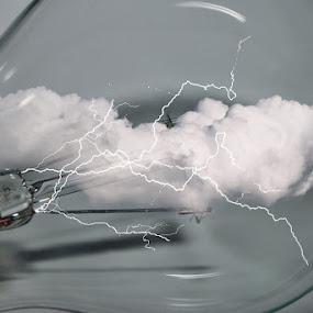 Global Storm by Marc Rossmann - Digital Art Things ( clouds, lightning, storm, globe )