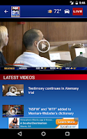 Screenshot of FOX25 News