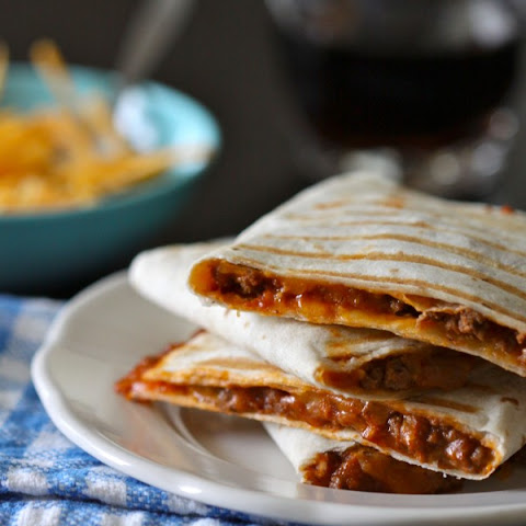 Sloppy Joe Quesadillas