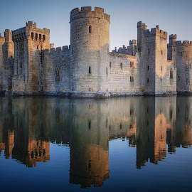 Bodiam Castle by Tim Clifton - Buildings & Architecture Public & Historical ( castle, reflection, reflections, buildings, historical, building, landscape )