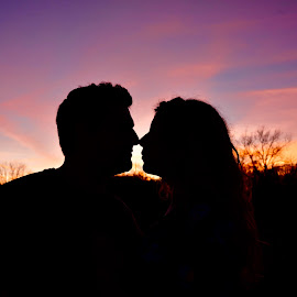 Sunset love by Renee Morr - People Couples ( couple sunset )