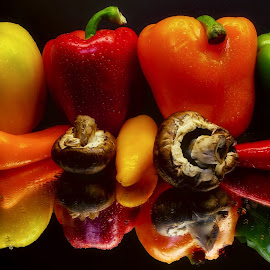 The Colors of Peppers by Dave Walters - Food & Drink Fruits & Vegetables ( peppers, nature, colors, still life, food, vegetable )