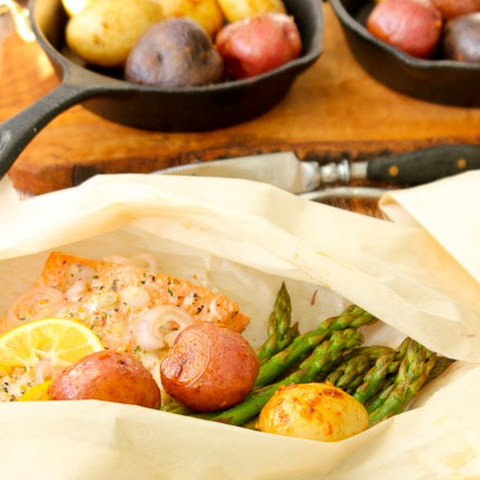 Salmon Packets with Camp Potatoes