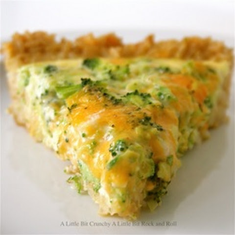 Broccoli and Chedder Quiche