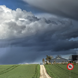 Bad weather (hail, a bit of snow) in the spring in Denmark by Keld Helbig Hansen - Landscapes Weather