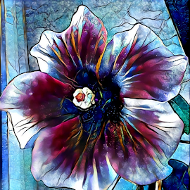 Hibiscus  by Cassy 67 - Digital Art Things ( digital, love, harmony, flowers, abstract art, photoshop, abstract, flower, digital art, light, hibiscus, deep dream, photography, energy )