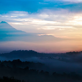 MT. Merapy & Borobudur Temple by Kristanda Junior - Landscapes Mountains & Hills