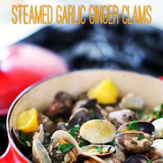 Steamed Garlic Ginger Clams