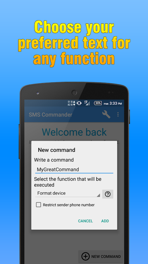 SMS Commander Screenshot 1