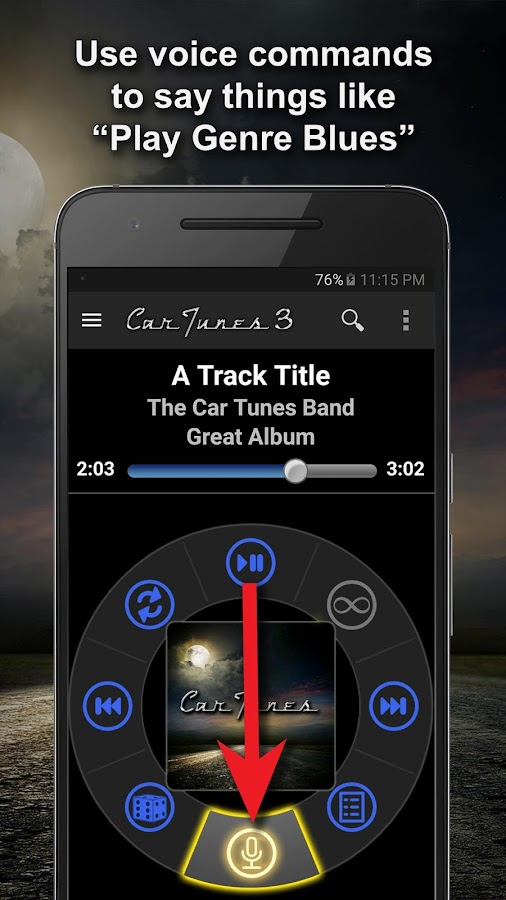 Car Tunes Music Player Pro Screenshot 1