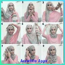 Tutorial Hijab Pashima Paris
