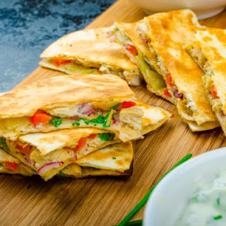 Copycat Ruby Tuesday's Santa Fe Chicken Quesadilla