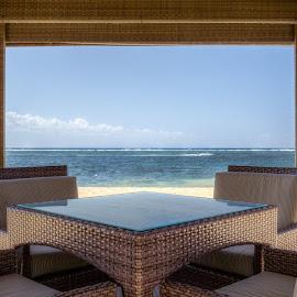 By the beach by Varok Saurfang - Artistic Objects Furniture ( chairs, hut, horizon, sea, beach, furniture )