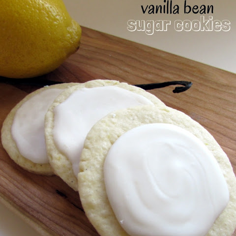 Lemon Vanilla Bean Sugar Cookies