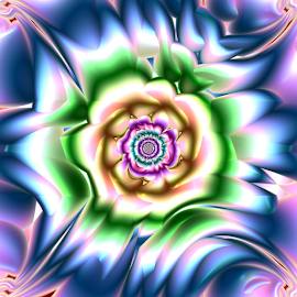 Flower 45 by Cassy 67 - Illustration Abstract & Patterns ( digital, love, floral, surreal, harmony, flowers, art, blossom, abstract art, pattern, abstract, fractals, digital art, bloom, modern, light, fractal, energy )
