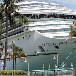 Cruisin' by Chris Snyder - Transportation Boats ( flodida, key west fl, fl, carnival cruise, carnival, cruise ship, transportation, key west, boat, cruise )