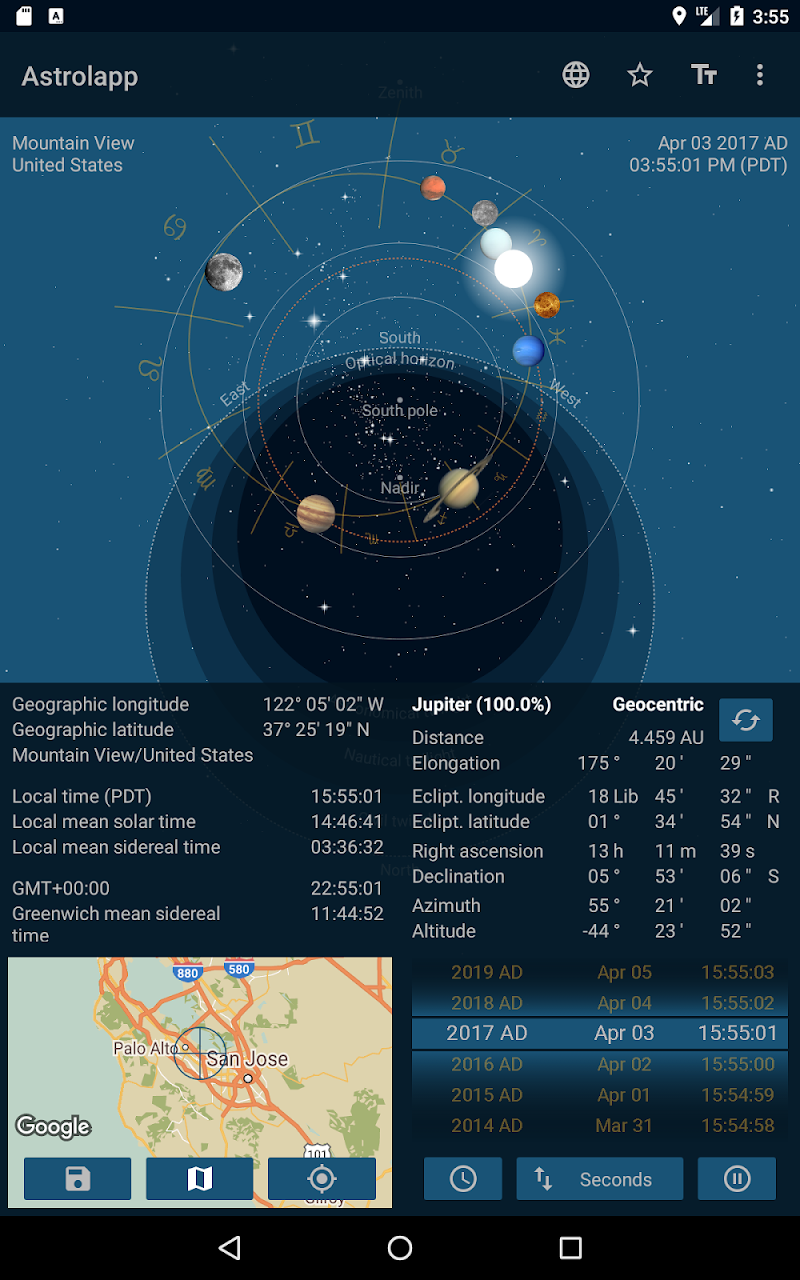 Astrolapp Live Planets and Sky Map Screenshot 12