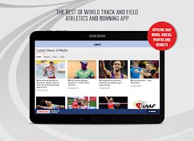 Screenshot of IAAF.org