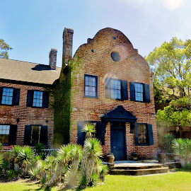 Middleton Plantation by Mary Gallo - Buildings & Architecture Public & Historical ( old, building, middleton, historical, landscape, plantation, south carolina )