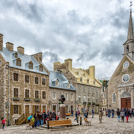 Old Quebec City by Angela Higgins - City,  Street & Park  Historic Districts