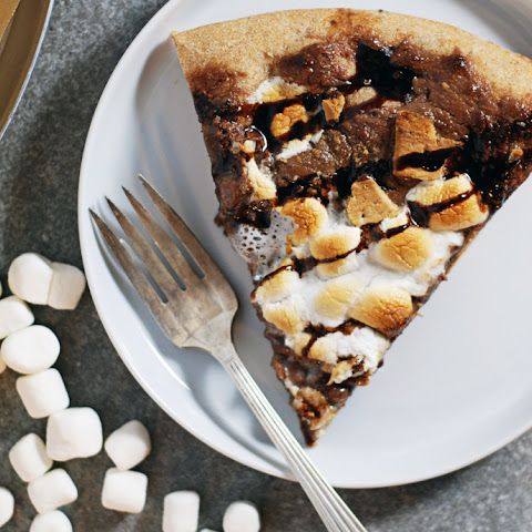 Whole Wheat S'Mores Dessert Pizza