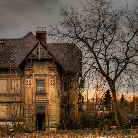 House of immeasurable sadness by Petr Germanič - Buildings & Architecture Decaying & Abandoned ( devastation, old, winter, sadness, sunset, house )