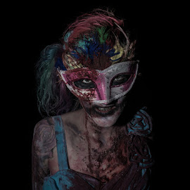 by Vincent Yates - Public Holidays Halloween ( colourful, red, zombie, blue, mask, yellow,  )