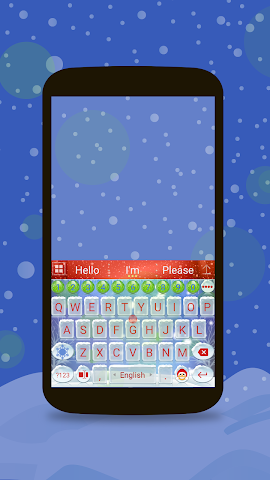 android Animated Christmas Keyboard Screenshot 0