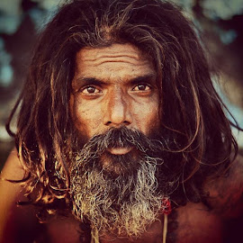 Sadhu by Mahesh Sharma - People Portraits of Men ( saint, travelphotography, uttrakhand, rishikesh, travel, iloveindia, holy, natgeotravellerindia, wanderlust, portrait, hair, eyes, baba, yogi,  )