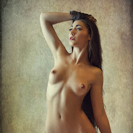 A Dark Allure by John McNairn - Nudes & Boudoir Artistic Nude ( colour, studio, scotland, model, nude, creative )