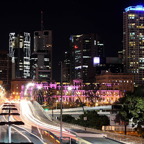 Brisbane by Ty Hanson - City,  Street & Park  Street Scenes