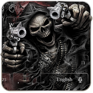 Devil Death Skull Gun Keyboard Theme