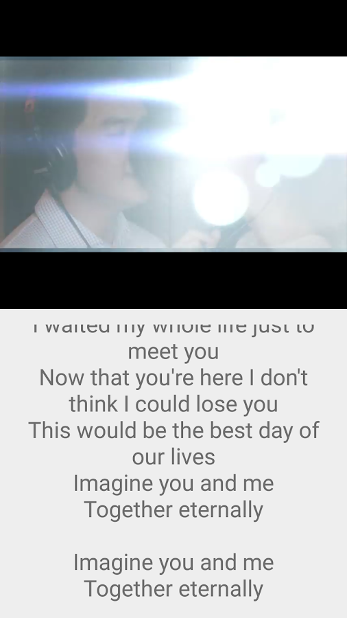 Imagine You & Me Lyrics Pro Screenshot 2