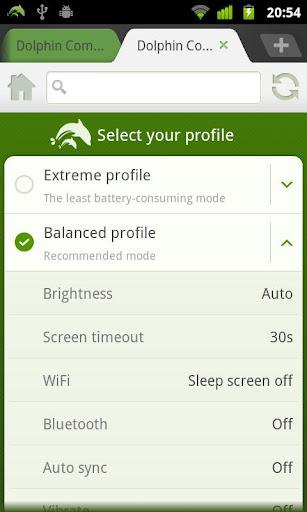 Dolphin Battery Saver screenshot 3