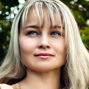 Irina by Sergey Kuznetsov - People Portraits of Women ( woman, young, blonde, summer, posing )