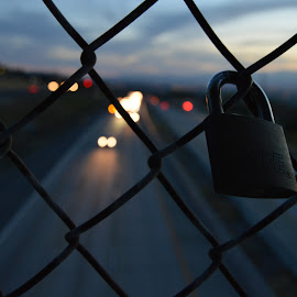 Lock. by Jordan Wood - Novices Only Street & Candid ( love, abstract, night photography, street, sundown )
