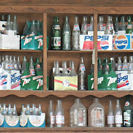 Bottles by Brenda Conrad - Artistic Objects Antiques ( americana, old, worn, glass, bottles, antique, weathered, antiques,  )